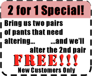 Coupon for Alterations Santa Monica